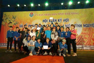 Đoàn viên trường THPT Gia Nghĩa tham gia Hội trại xuân 2019.